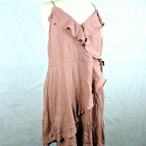 Mossimo Womens Dress Size XXL Faux Wrap Ruffle